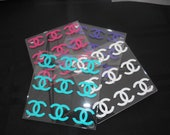 Set of 4 Chanel Inspired Acrylic Coasters
