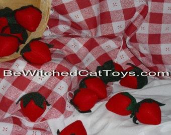 Organic Catnip Strawberry Cat Toy