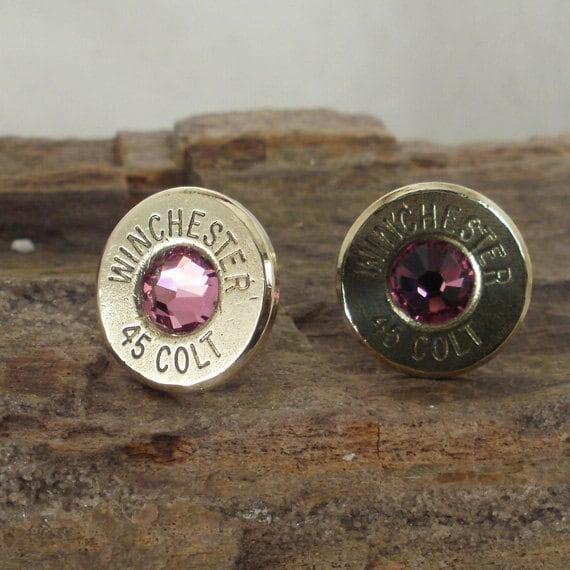 Rose Bullet  Earrings  - Ultra Thin - Colt 45