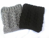 CROCHET PATTERN only cable stich boot cuffs