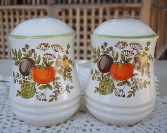 Large Ceramic Salt and Pepper Shakers with Vegetables