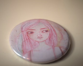 Cassie // Skins // Pocket mirror // Illustrated mini mirror // Girls pochet mirror // illustration
