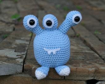 Crocheted Large Amigurumi Monster, Alien