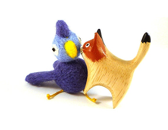 Blue Bird Wool Catnip Cat Toy