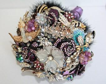 Brooch Bouquet Bold Colors Custom Order
