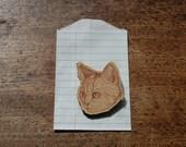 Limited Edition Laser Cut British Short Hair Kitten Brooch in Chestnut Brown