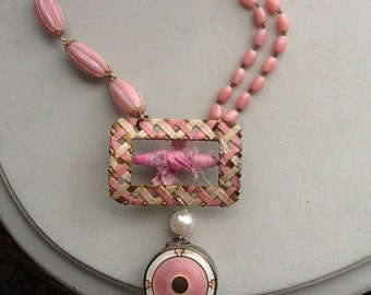 Pink is for Girls ~ vintage assemblage, one-off