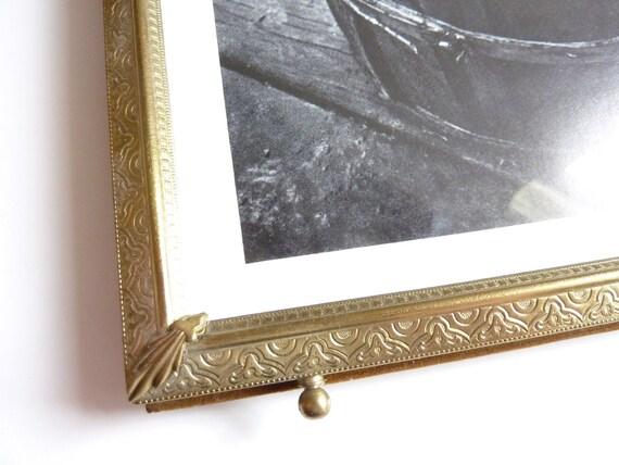 Vintage Picture Frame 8 x 10 - Gold Embossed Detail