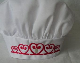 Personalized Princess Chef Apron and Hat Set, Children's apron sets, Chef Hat, Chef Apron, Custom logos, Children's kitchen, kids's kitchen
