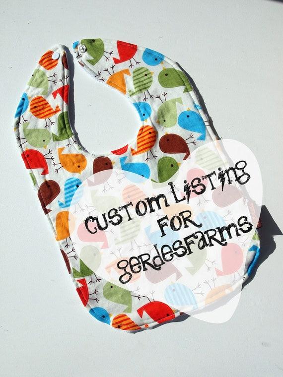 baby bib set of three custom listing for gerdesfarms