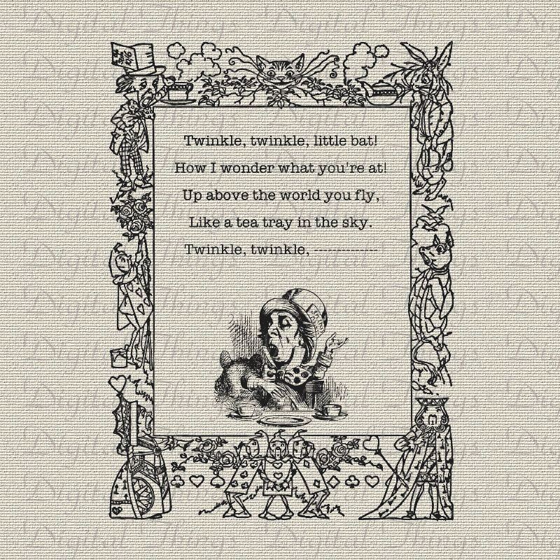 Mad Hatter Quotes: Alice In Wonderland Mad Hatter Quote Twinkle Twinkle Printable