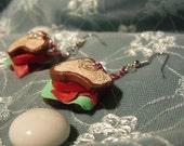Mini BLT  Sandwich Earrings