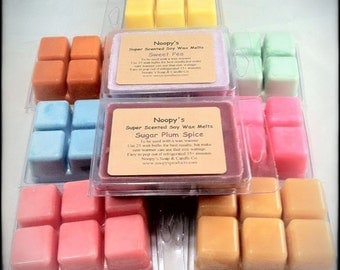3 Six-Packs TRIPLE SCENTED Noopy's Soy Wax Candle Melts/Tarts-100+ Scents-COMPARE