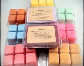 2 Six-Packs TRIPLE SCENTED Noopy's Soy Wax Melts/Tarts-100+ Scents