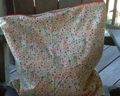 Large Waterproof Wetbag with Retro flowers and peace signs