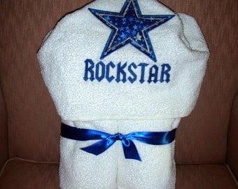 Child's Rockstar Hooded Bath/Beach Towel - Great Christmas Gift.......