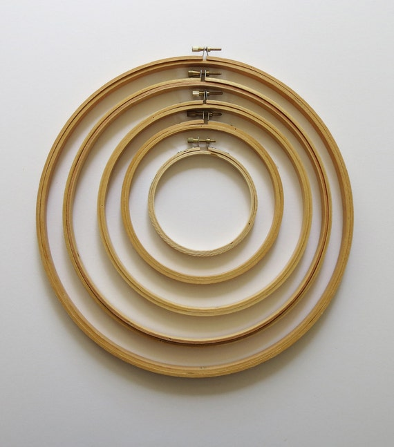 Embroidery Hoops Wooden Five