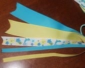 "M2M Gymboree ""Sea Splash"" Pony O Hair Bow"