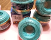 DMC Cebelia Teal or Aquamarine colored crochet thread