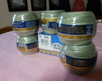 DMC Cebelia Light Olive or sage   green crochet thread