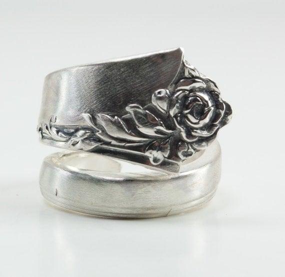 Fork Ring Sterling Silver Fork Ring Adjustable Fork Ring Christmas Gift Stocking Stuffer