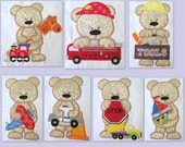 Boy Toy Bears Machine Applique Embroidery Designs (Full Set) 4x4 & 5x7