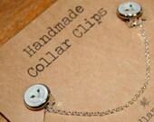 Handmade Collar clips - Barn owl illustration