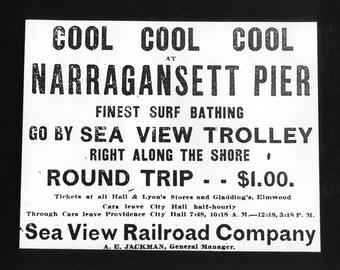 Narragansett Pier  Rhode Island gelatin silver print