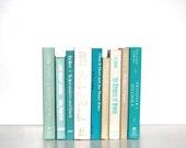 Front Page Featured-Vintage 9 Book Collection Summer colors Aqua interior Design Vintage Book Decor