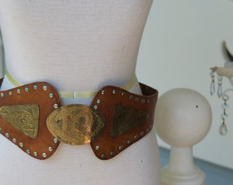 Brass Studded Belt