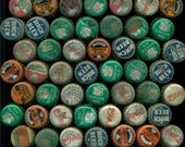 63 vintage soda bottle caps rusty  offered by Elizabeth Rosen