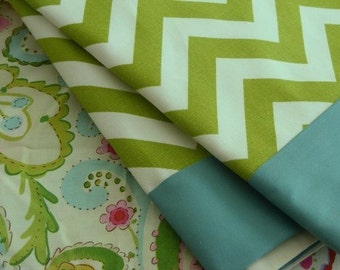 """Crib Skirt 12"""" to 14""""  /  Crib skirt Fully Lined with ONE Border"""