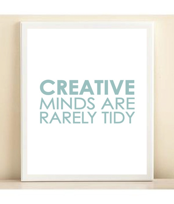 Blue Creative Minds print poster