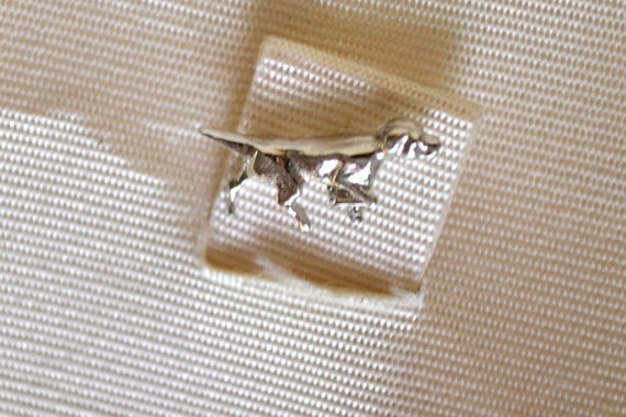 Anson Sterling Silver Dog Tie Pin, Vintage Fine Jewelry, OOAK Accessory
