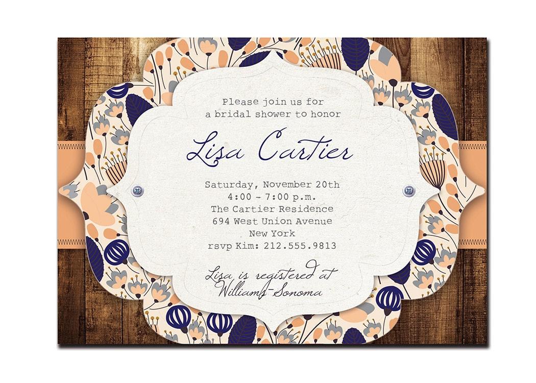 Cheap Rustic Wedding Invitations: Rustic Bridal Shower Invitation Vintage Baby Shower Rustic
