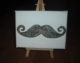 Sparkly Moustache Mini-Painting