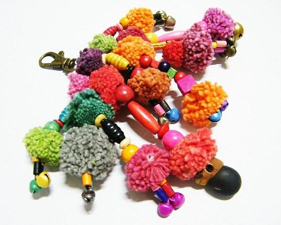 Pom Pom Hmong Colorful Keychain