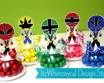 Samurai Kids Superhero Birthday Party Favor / Super Hero Gifts / Candy Container / Candy Buffet / Party Favor Boxes / Kids Favors