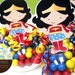 Wonder Girl Super Hero  Candy Favor Containers