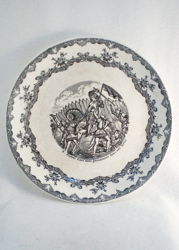 Antique Plate with Scene from the life of Joan of Arc