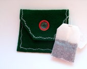 Tea Bag Pouch, Green Tea Pouch, Tea Bag Wallet, Green Tea Bag Holder, Mini Purse, Mini Envelope, Tea Envelope