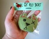 Set of 2 Zombie Cat Head Sachets - Lavender