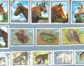 STAMPS Polska Repoblkia Malagasy Sharjah Horses lot of 14 stamps