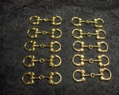 12 PCS Gold colour metal Buckle, bag, Decoration, shoe decoration, shoe