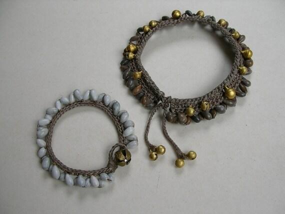 Reserved for Caren (ImmaFiya) bracelet and anklet