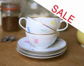 SALE 3 Atomic cups by Kaestner Saxonia, Germany