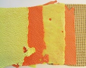 Handmade Paper Fall Colors Recycled Autumn