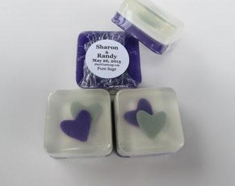 Double Heart Soap Favors