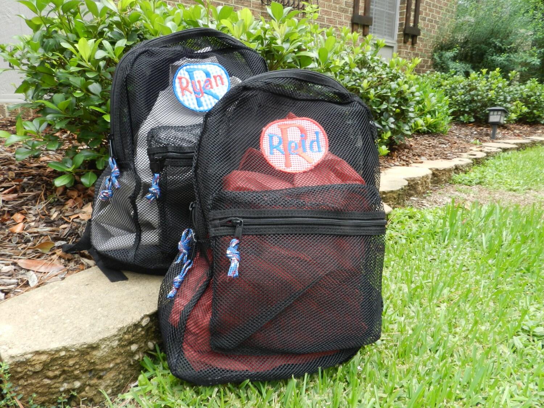 Boys Applique/Monogrammed Mesh Backpack
