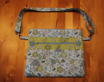 Blue and Green Shoulder Bag
